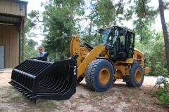 2 wheel loader with grapple