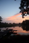 Sunset on Central Texas recreation and fishing lake