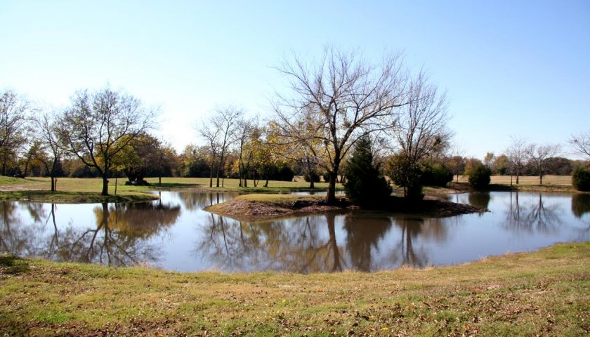 North Texas scenic ornamental lake