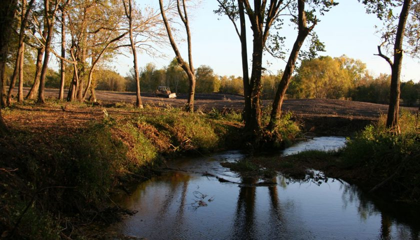 A picturesque view of the new 4 acre recreation lake.