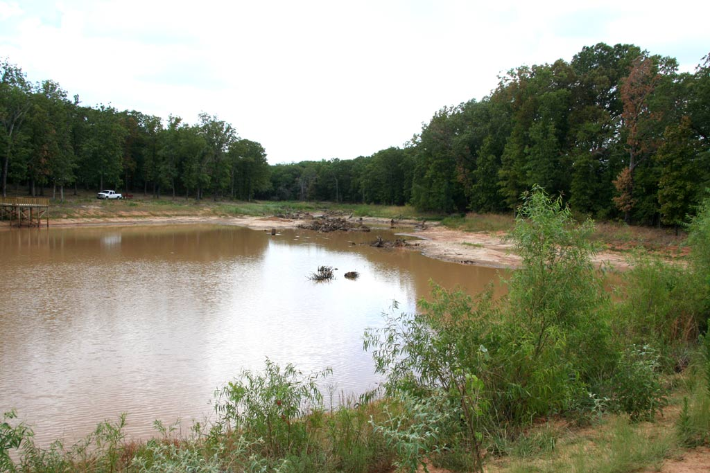 Improperly constructed North Texas fishing lake repaired.