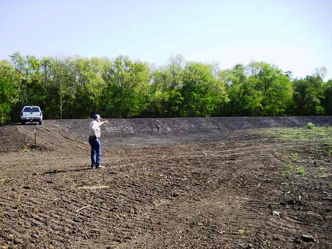 Waterfowl wetlands construction project. Improving acreage that was formally considered useless due to flooding can be a wise financial investment.