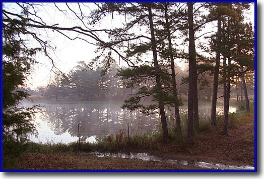 Cool fall morning on a North Texas recreation lake
